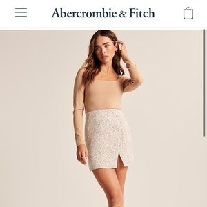 NWT Abercrombie & Fitch A-Line Mini Skirt
